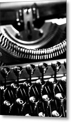 Typewriter Metal Print by Falko Follert