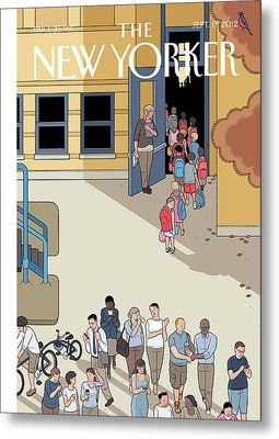 New Yorker September 17th, 2012 Metal Print by Chris Ware