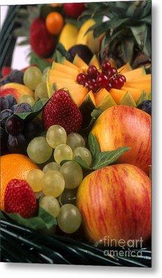 Variety Of Fruits. Metal Print by Bernard Jaubert