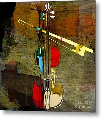 Violin Metal Print by Marvin Blaine
