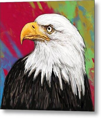 Wild Animal Stylised Pop Art Drawing Potrait Poser Metal Print