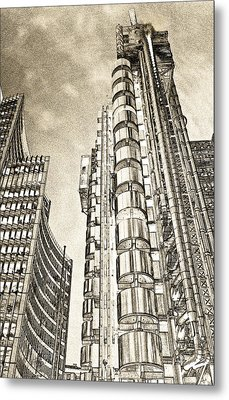 Willis Group And Lloyd's Of London Art Metal Print