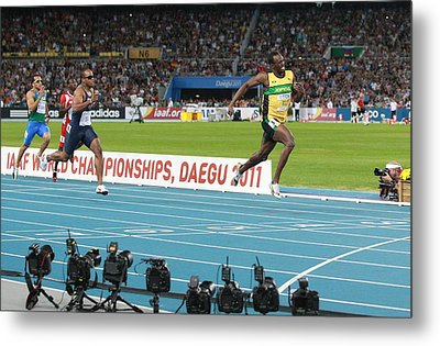 World Athletics Championships, Korea Metal Print by Science Photo Library