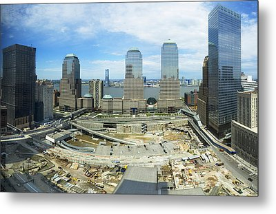 High Angle View Of Buildings In A City Metal Print by Panoramic Images