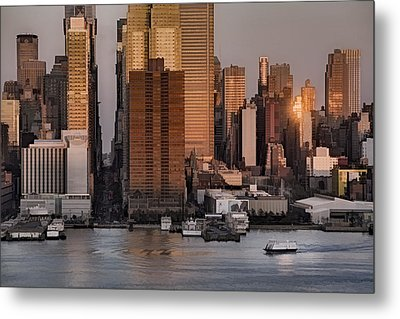 42nd Street Times Square Metal Print by Susan Candelario