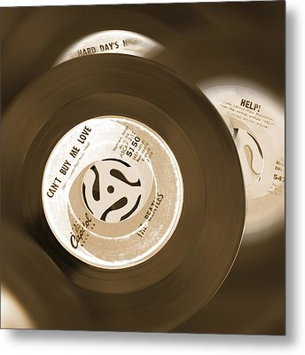 45 Rpm Records Metal Print by Mike McGlothlen