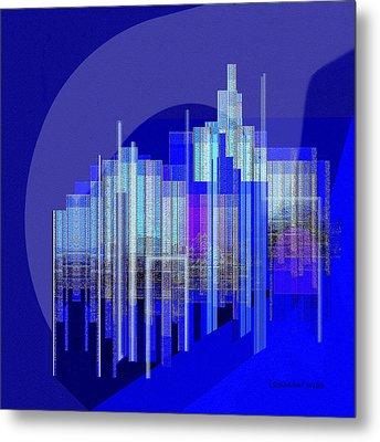 462 - Big City Abstract ... Metal Print