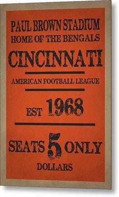 Cincinnati Bengals Metal Print by Joe Hamilton