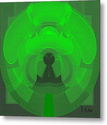 471 - The Keyhole Metal Print by Irmgard Schoendorf Welch
