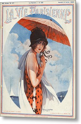 La Vie Parisienne  1924 1920s France Metal Print by The Advertising Archives