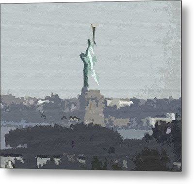 Cutout Tempera Impressions From Tuesday Morning In September Metal Print by Kosior
