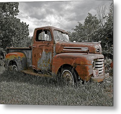 Metal Print featuring the photograph '49 Ford Pick-up by Christopher McKenzie