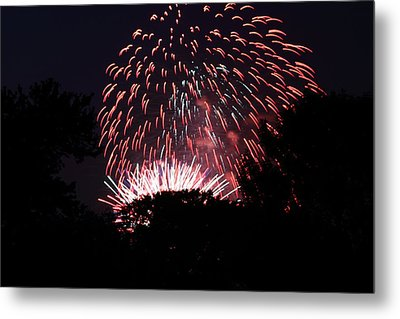 4th Of July Fireworks - 011313 Metal Print by DC Photographer