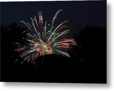 4th Of July Fireworks - 01139 Metal Print