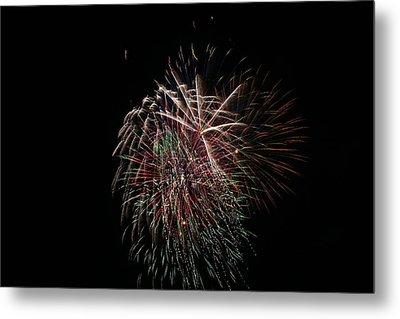 4th Of July Fireworks Metal Print by Alan Hutchins