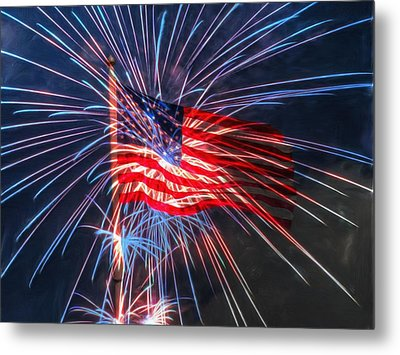 4th Of July Metal Print by Heidi Smith