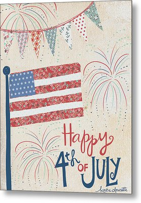 4th Of July Metal Print by Katie Doucette