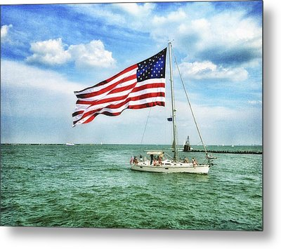 Metal Print featuring the photograph 4th Of July - Navy Pier - Downtown Chicago by Photography  By Sai