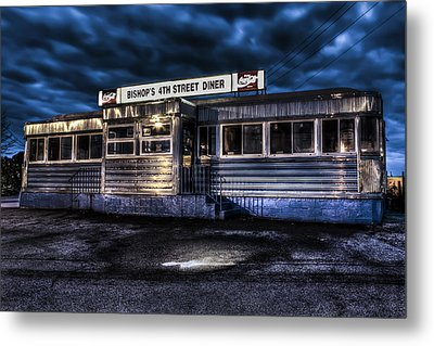 4th Street Diner Metal Print by Andrew Pacheco