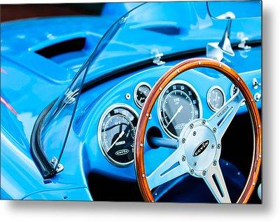 1959 Devin Ss Steering Wheel Metal Print by Jill Reger