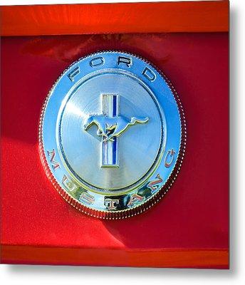 1966 Ford Mustang Emblem Metal Print