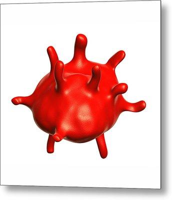 Abnormal Red Blood Cell Metal Print by Harvinder Singh