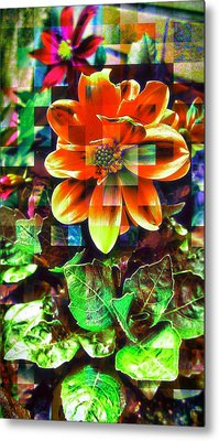 Abstract Flowers Metal Print by Chris Drake