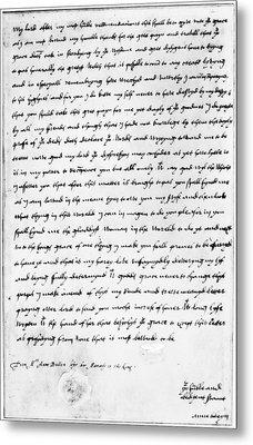 Anne Boleyn (1507-1536) Metal Print