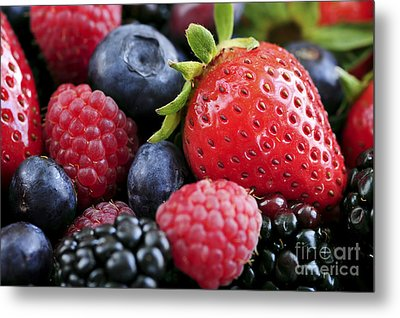 Assorted Fresh Berries Metal Print