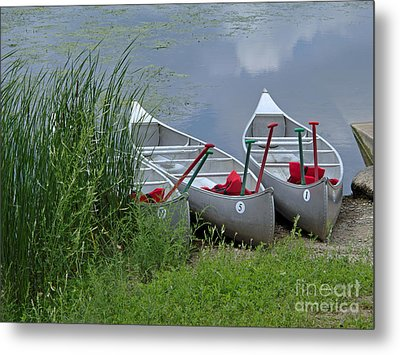 At Waters Edge Metal Print