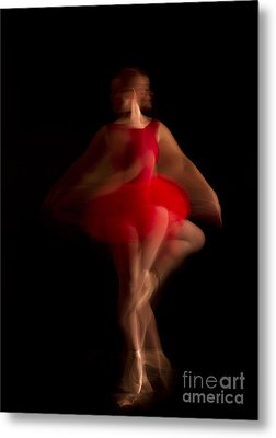 Ballet Dancer In Red Tutu Metal Print