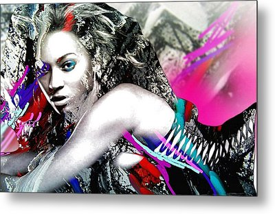 Beyonce Metal Print by Bogdan Floridana Oana