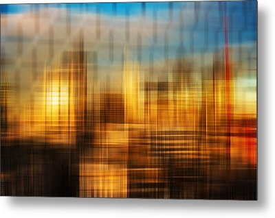 Blurred Abstract Colorful Background Metal Print by Matthew Gibson