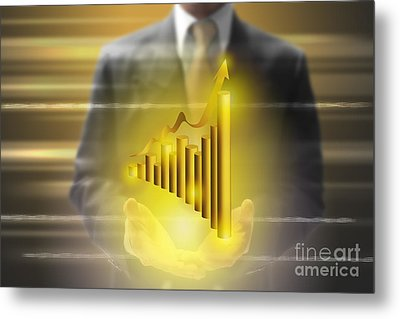 Business Abstract Metal Print