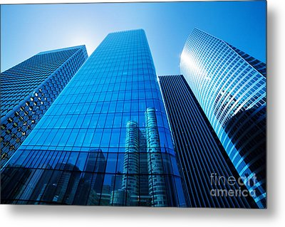 Business Skyscrapers Metal Print by Michal Bednarek