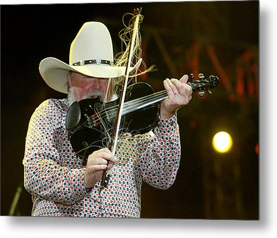 Charlie Daniels Metal Print by Don Olea