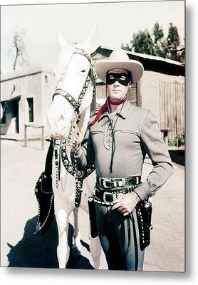 Clayton Moore In The Lone Ranger  Metal Print