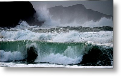 Clogher Waves Metal Print by Barbara Walsh
