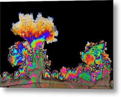 Dopamine Drug Crystals Metal Print by Antonio Romero