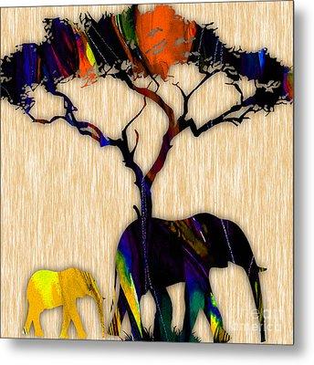 Elephant Metal Print by Marvin Blaine
