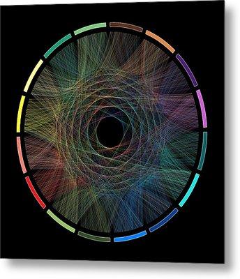 Flow Of Life Flow Of Pi Metal Print by Cristian Ilies Vasile