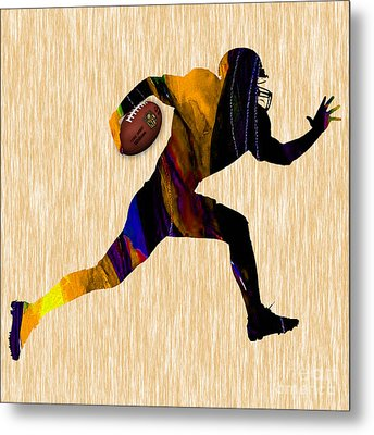 Football Metal Print by Marvin Blaine