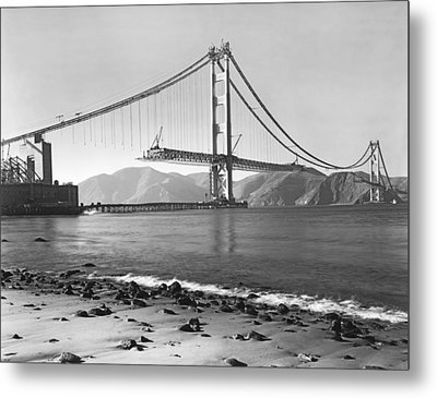 Golden Gate Bridge Metal Print by Underwood Archives