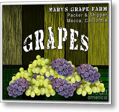 Grape Farm Metal Print by Marvin Blaine