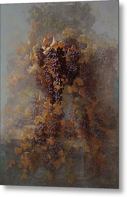 Grapes And Architecture Metal Print by Edwin Deakin