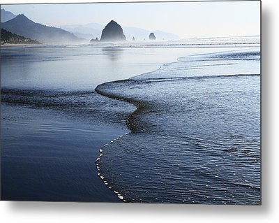 Haystack Rock From Chapman Point Metal Print
