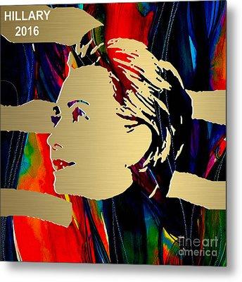 Hillary Clinton Gold Series Metal Print