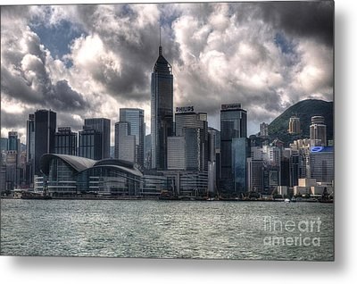 Metal Print featuring the photograph Hong Kong Harbour by Joe  Ng