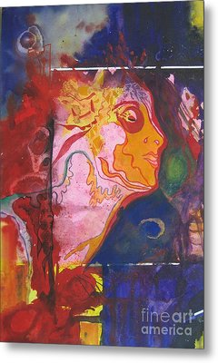Metal Print featuring the painting Imagine by Diana Bursztein