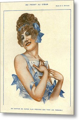 La Vie Parisienne 1916 1910s France Metal Print